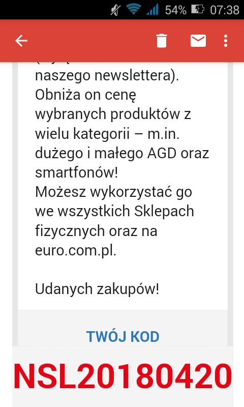 Kod rabatowy euro.com.pl stacjonarnie i online
