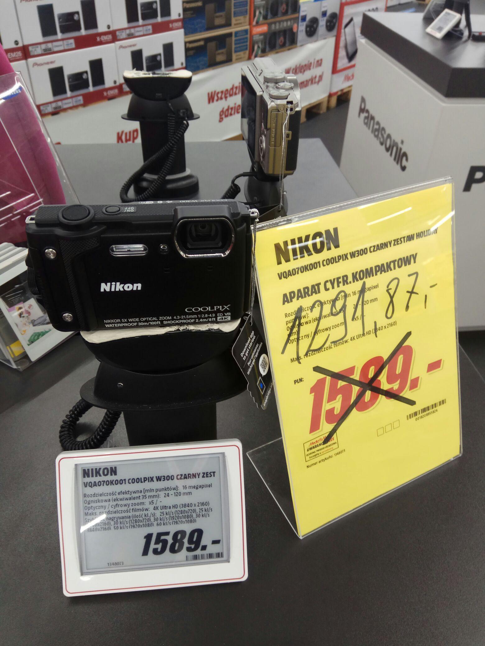 MediaMarkt bez Vat-u Nikon W300 zestaw Holiday