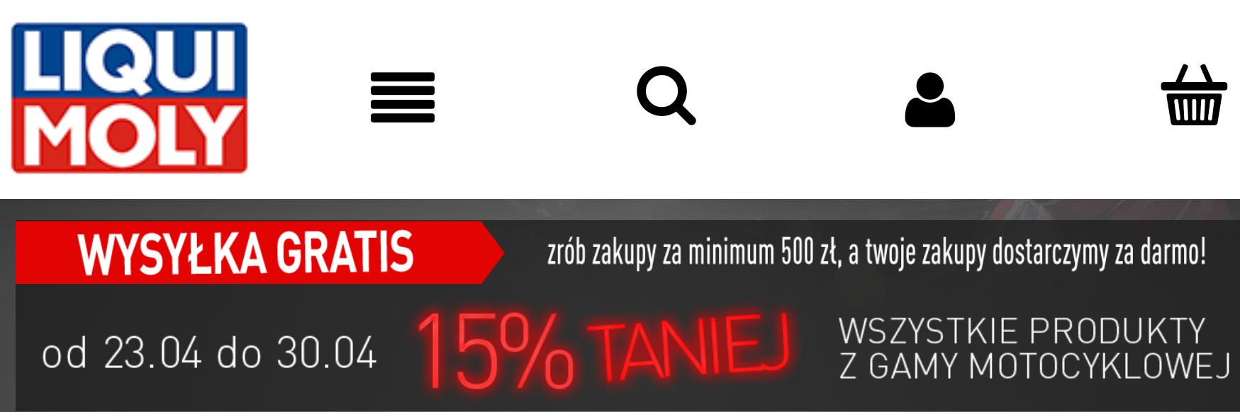 Liqui Moly -15% na oleje i inne produkty do Motocykli