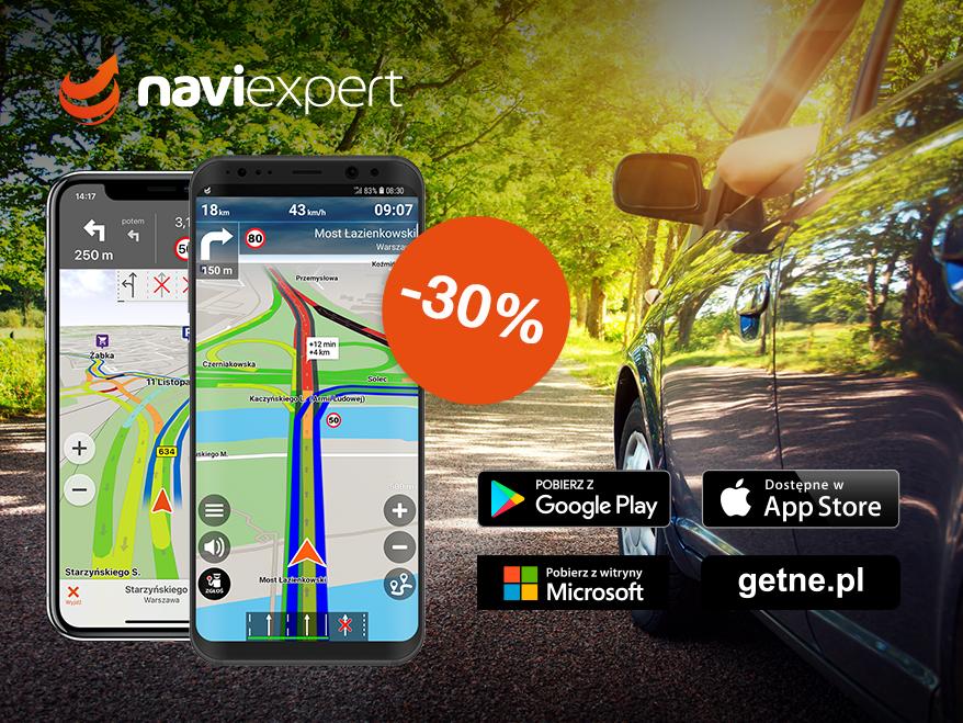 NaviExpert -30% na majówkę