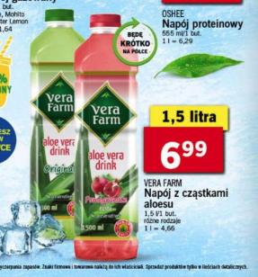 Lidl Aloes VERA FARM 1,5l