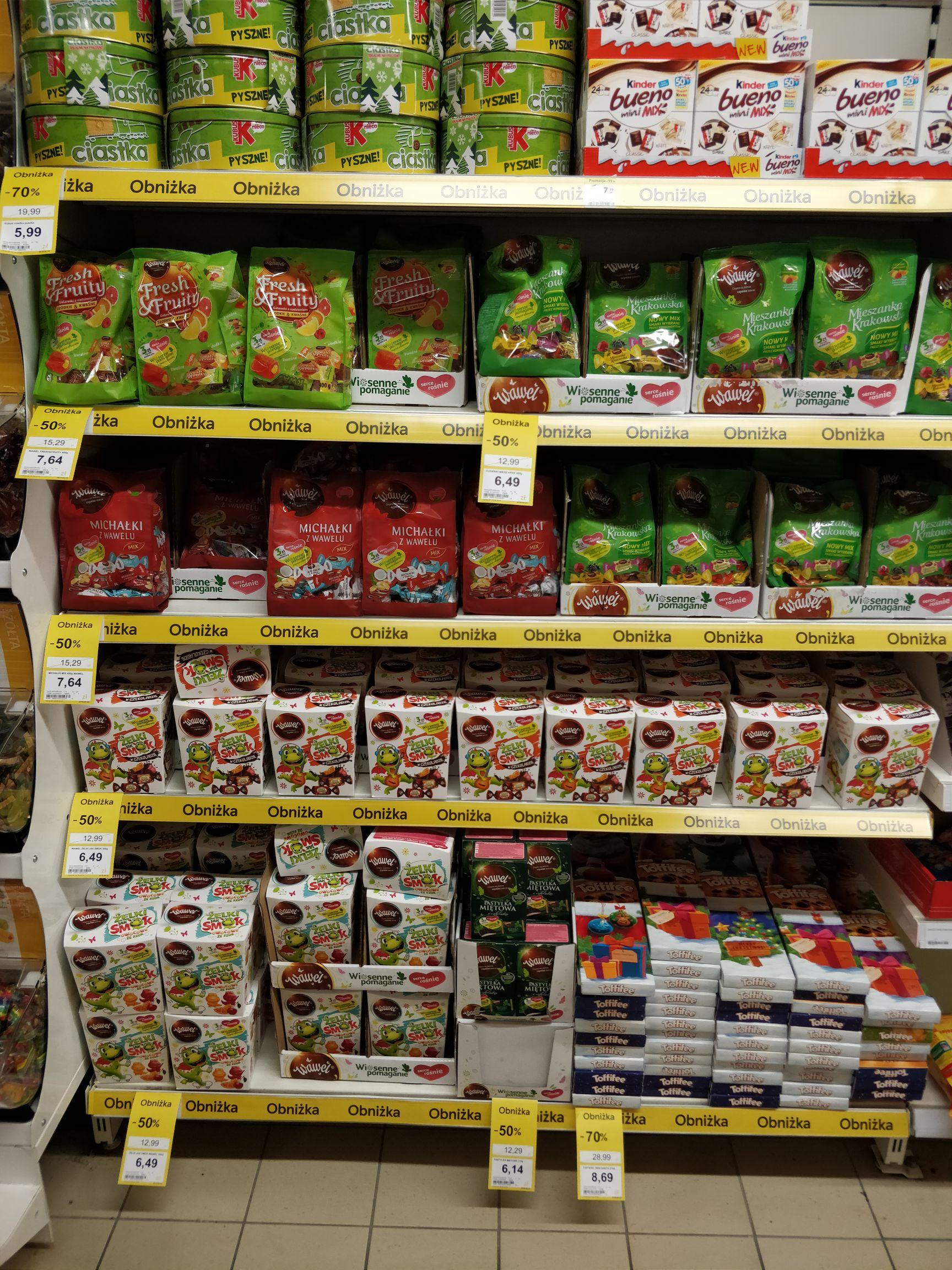 Słodycze w super cenach / Tesco