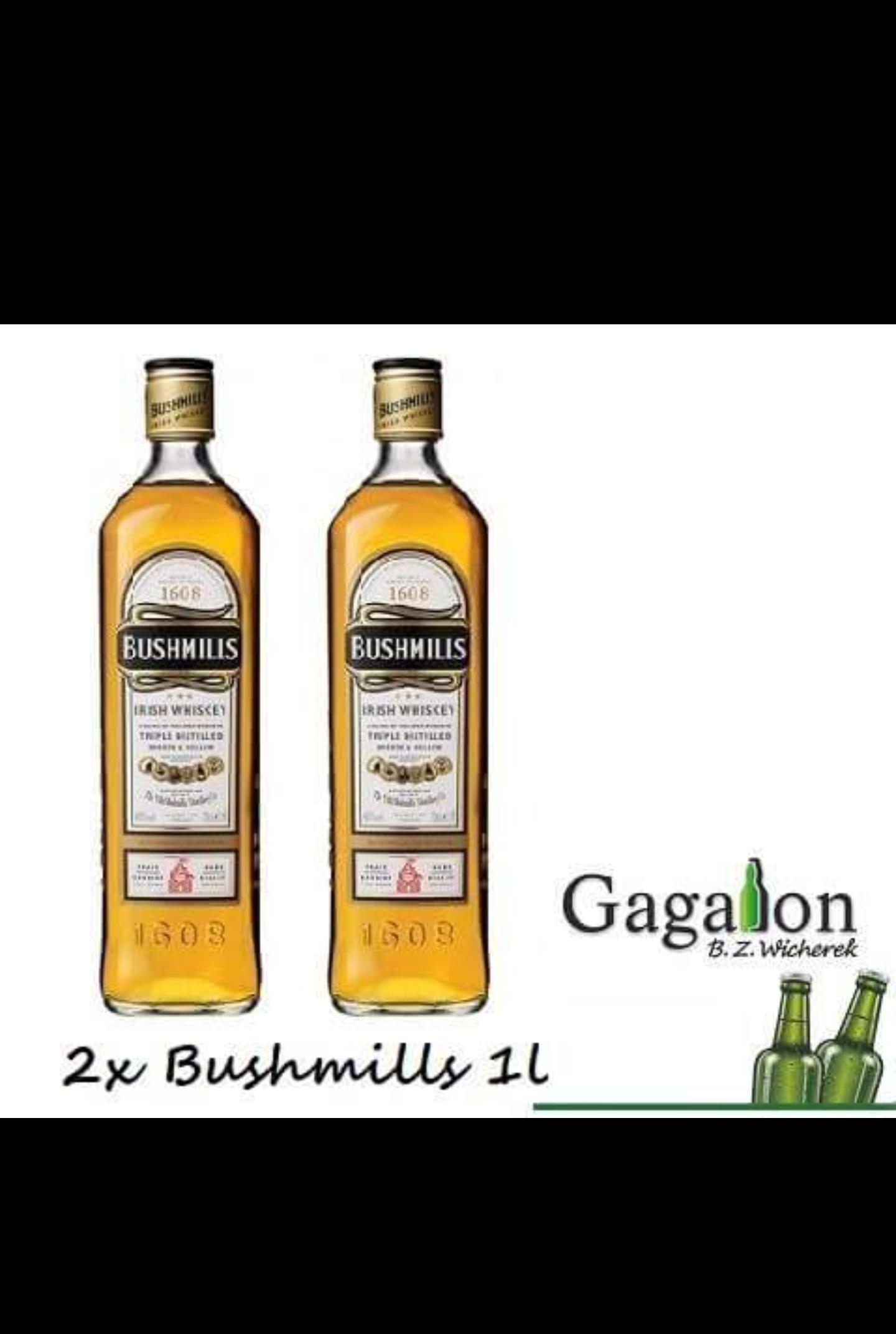 """Bushmills 2 x 1l akcja """"stówka"""" Gagalon"""