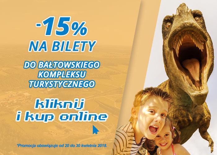 Tańsze o -15% bilety do Bałtowskiego Parku @ Bałtowski Kompleks Turystyczny