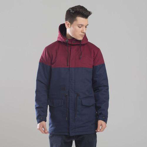 Backyard Cartel kurtka jacket Parka Long claret / navy
