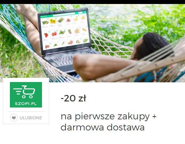 20 zł na pierwsze zakupy + darmowa dostawa @szopi.pl