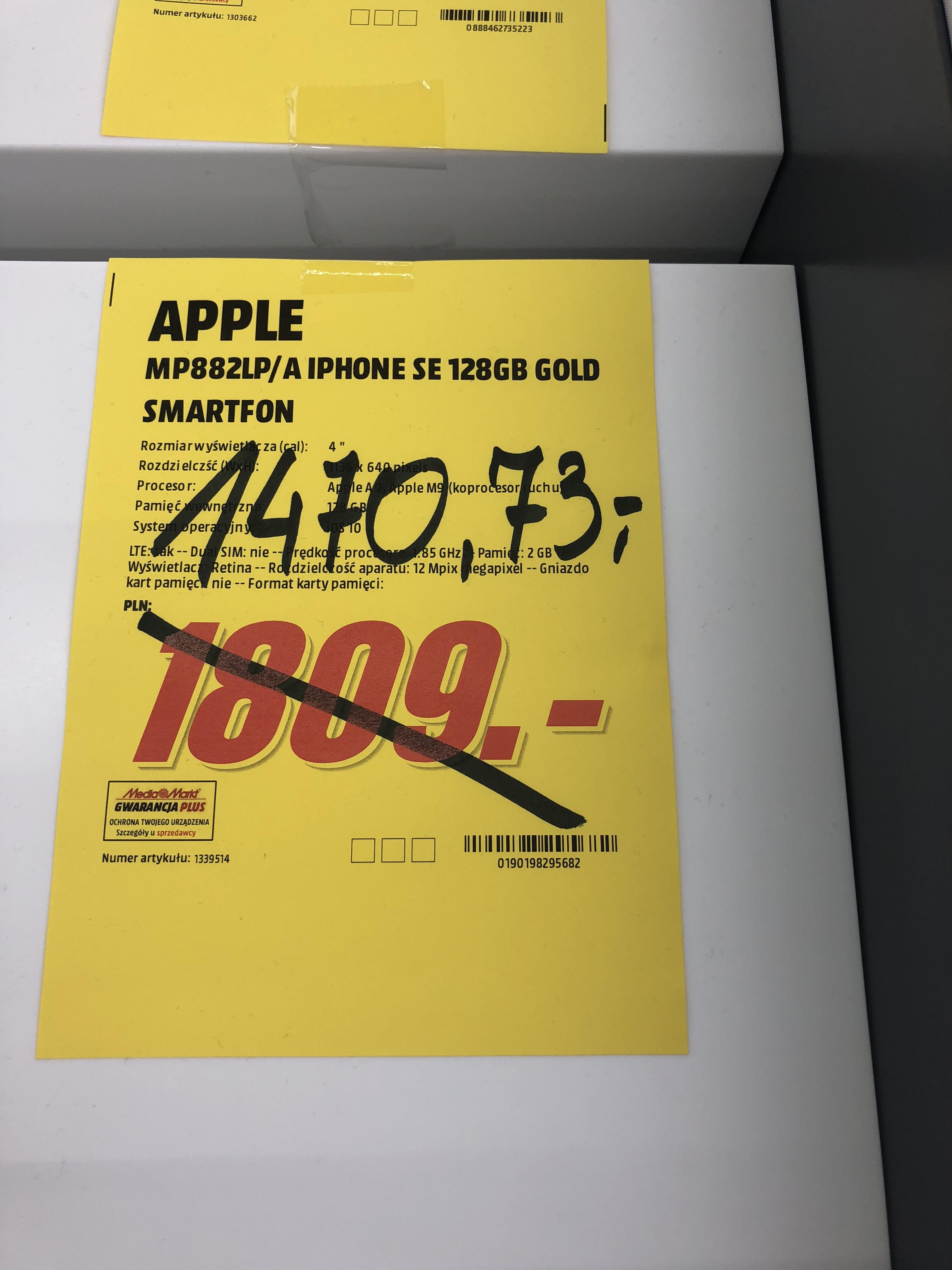 Iphone se 128gb rose gold Koszalin