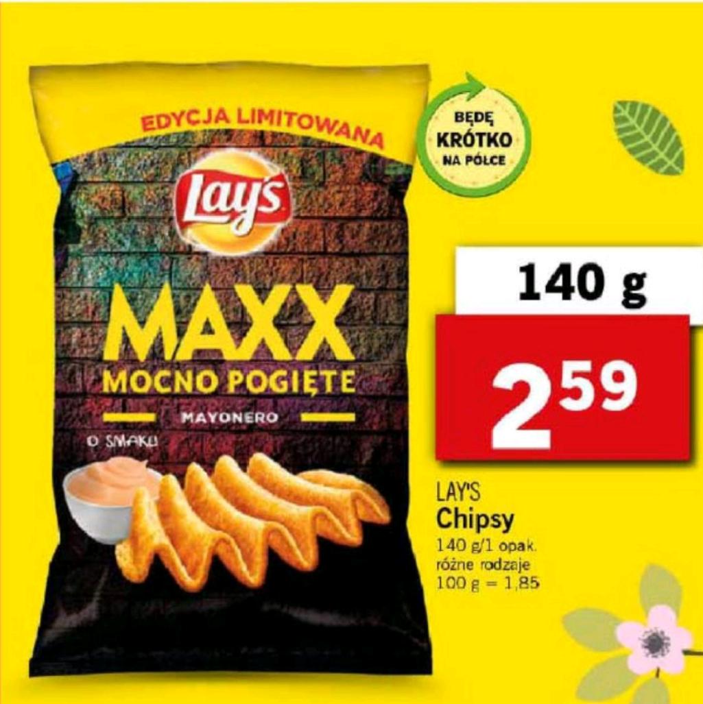 Chipsy lays mayonero 140g Lidl
