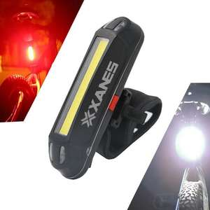 Lampka rowerowa XANES 2 in 1 (red and white light) 500LM Bicycle USB