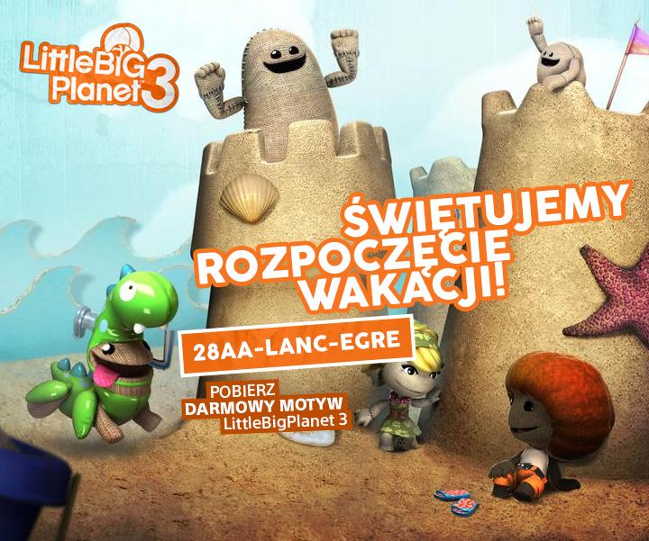 Darmowy motyw LittleBigPlanet 3 @ PS Store