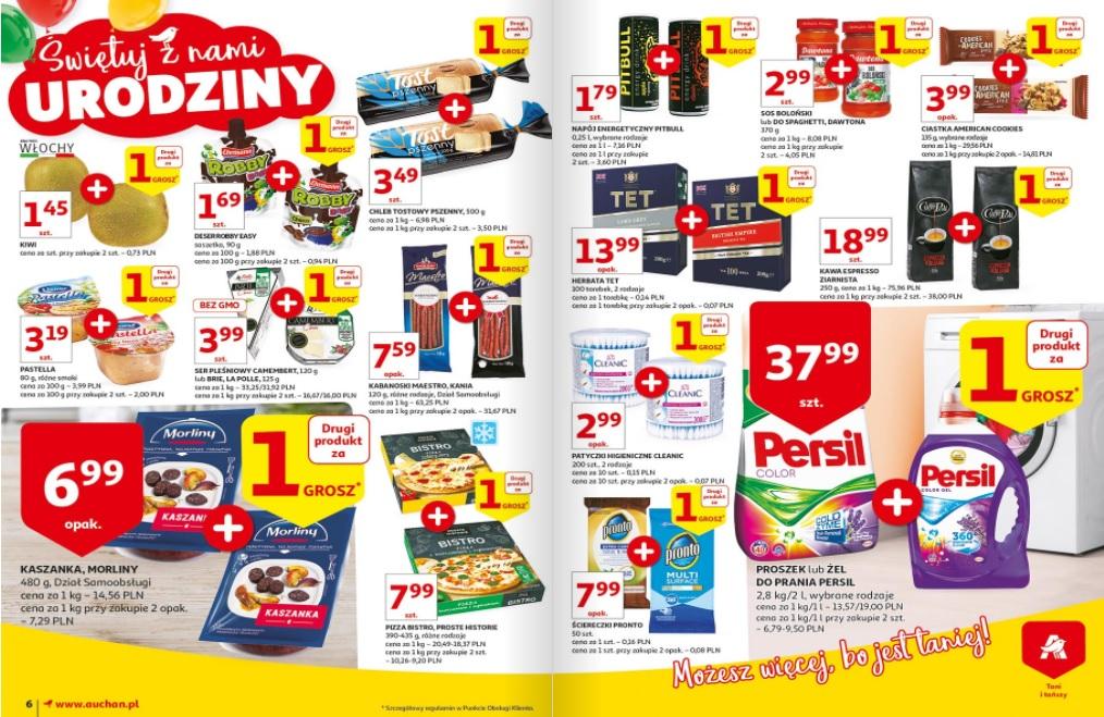 Zbiór ofert 1 + 1 za grosz @Auchan