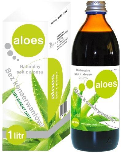 Sok z Aloesu 3 x 1000 ml Aloes naturalny bez konserwantów i cukru