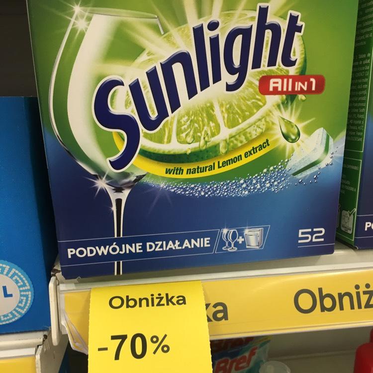 Tesco - tabletki sunlight różne rodzaje -70%