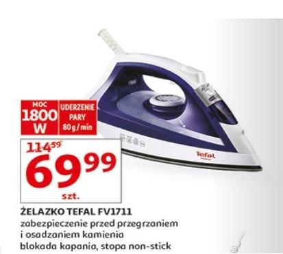 Żelazko Tefal FV1711 za 69,99zł @ Auchan