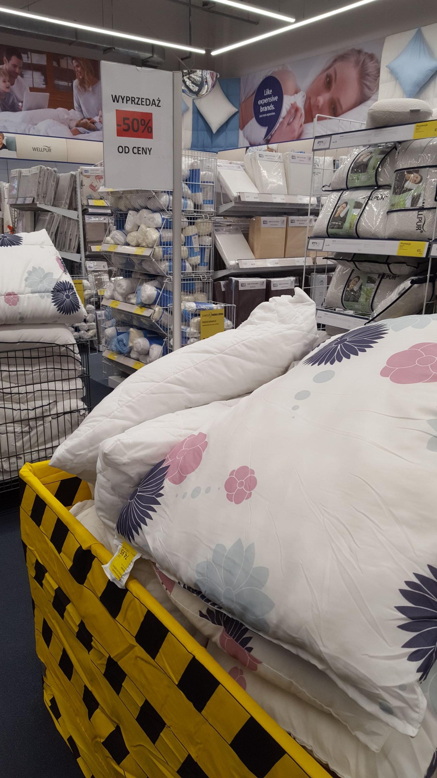 Jysk ogromna wyprzedaż kołder i poduszek -50% od ceny rabatowej