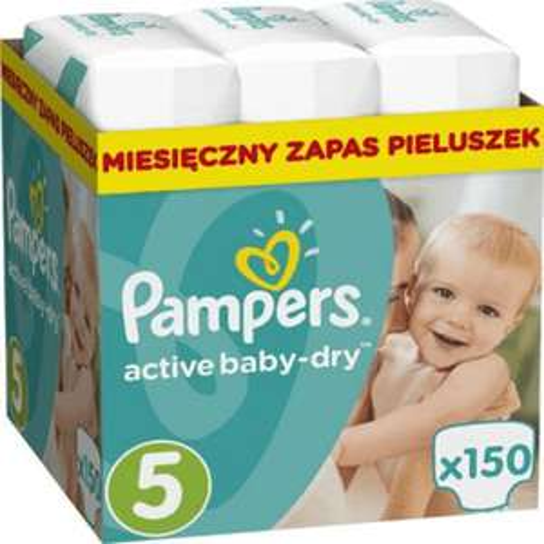 pieluszki pampersy PAMPERS active baby-dry 150 szt. rozmiar 5 - ale inne rozmiary też w promocji LOKALNA TYLKO WARSZAWA
