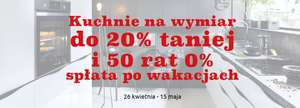 Do 20% rabatu na kuchnie + 50 rat 0% @ Black Red White