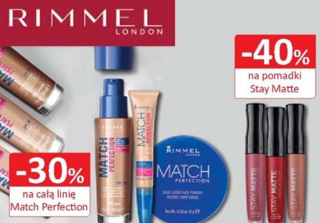 -40% na pomadki Stay Matte i -30% na całą linię Match Perfection marki Rimmel. Natura