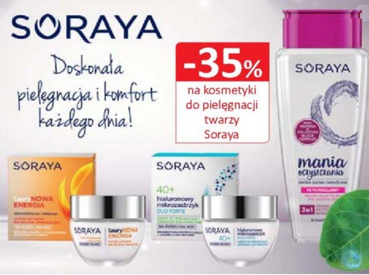 -35% na kosmetyki do twarzy Soraya. Natura