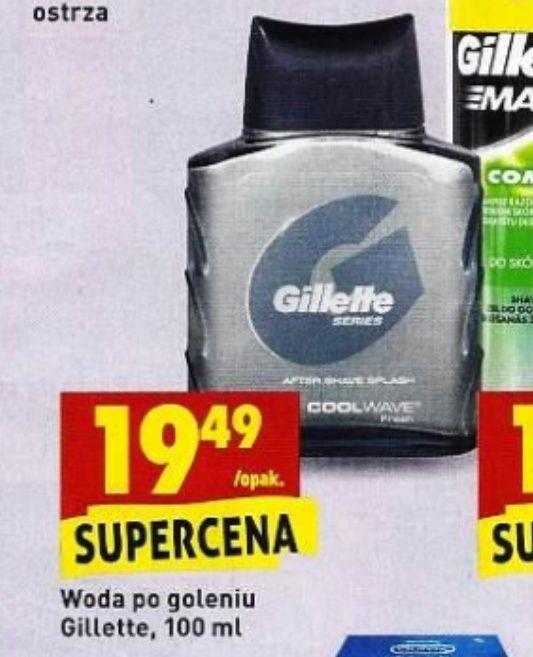 Woda po goleniu Gillette w Biedronce