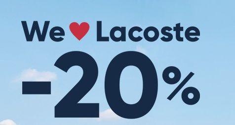 Obnizka cen na caly asortyment Lacoste