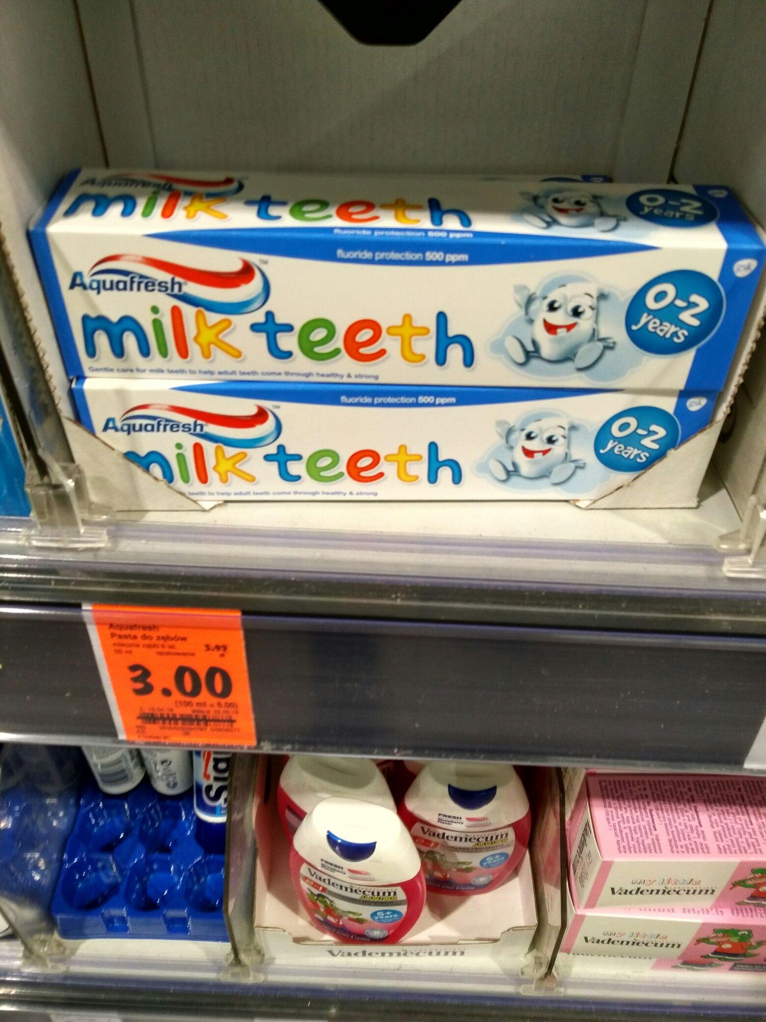 Kaufland pasta dla dzieci Aquafresh