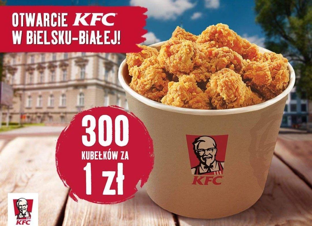 Kubełek Hot Wings za 1 zł @KFC Bielsko-Biała