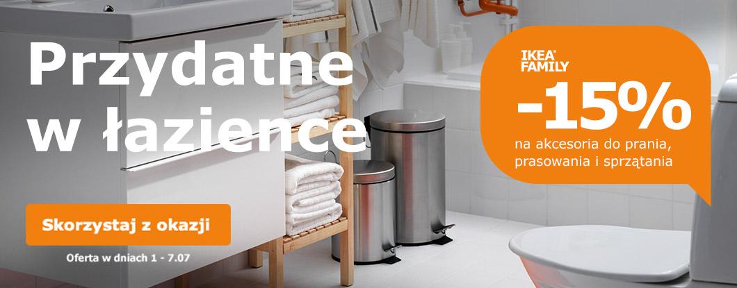 Rabat -15% na akcesoria do prasowania, prania i sprzątania @ Ikea Family