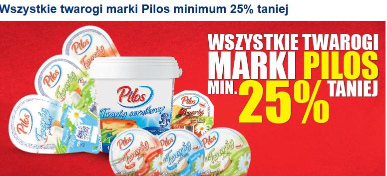 Twarogi marki Pilos taniej o minimum 25% @ Lidl
