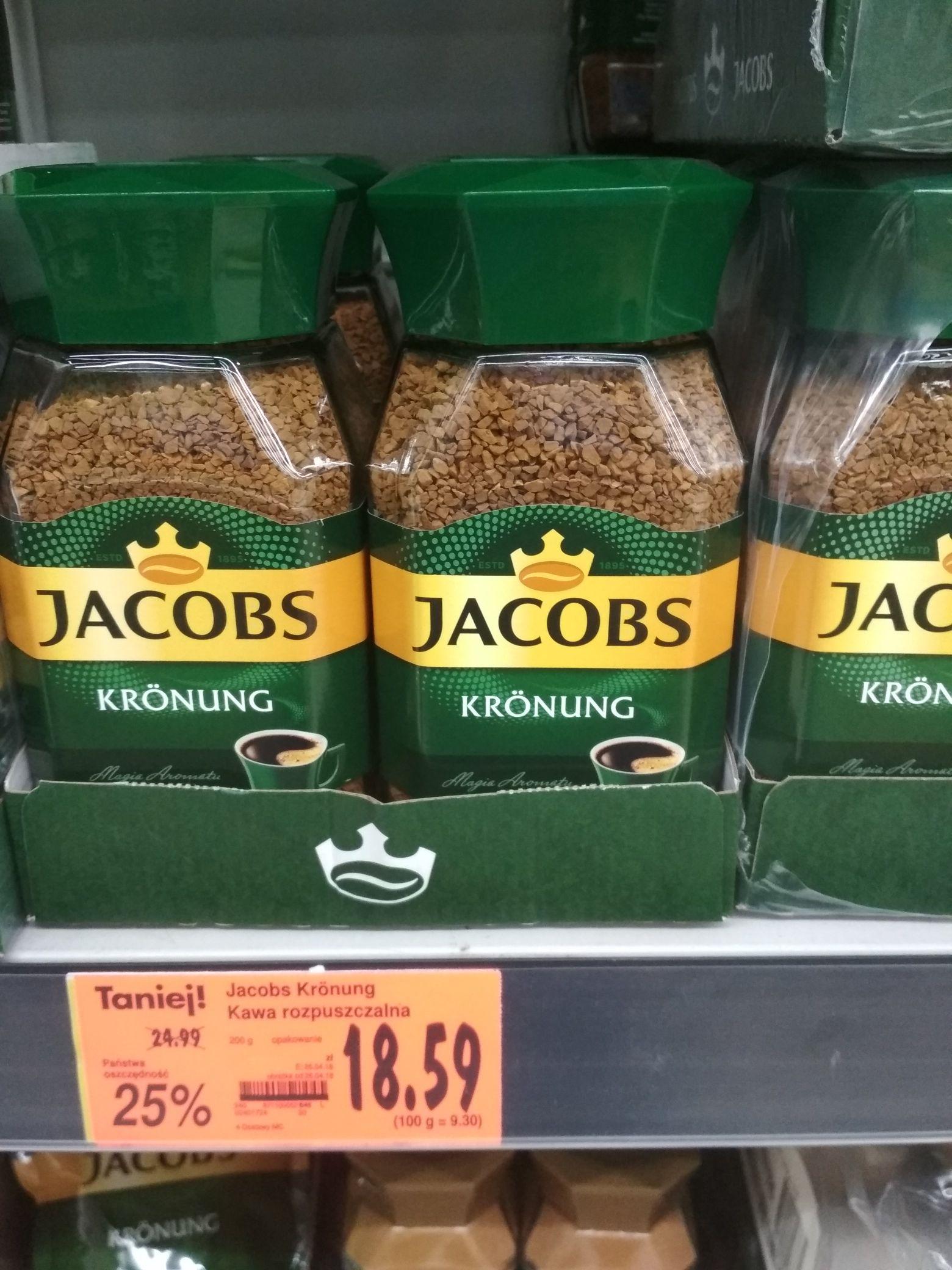 Jacobs Kronung, rozpuszczalna, 200 g.