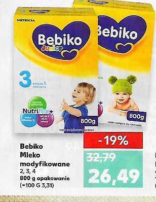 Bebiko mleko 800gr, różne rodzaje Kaufland 26,49zl