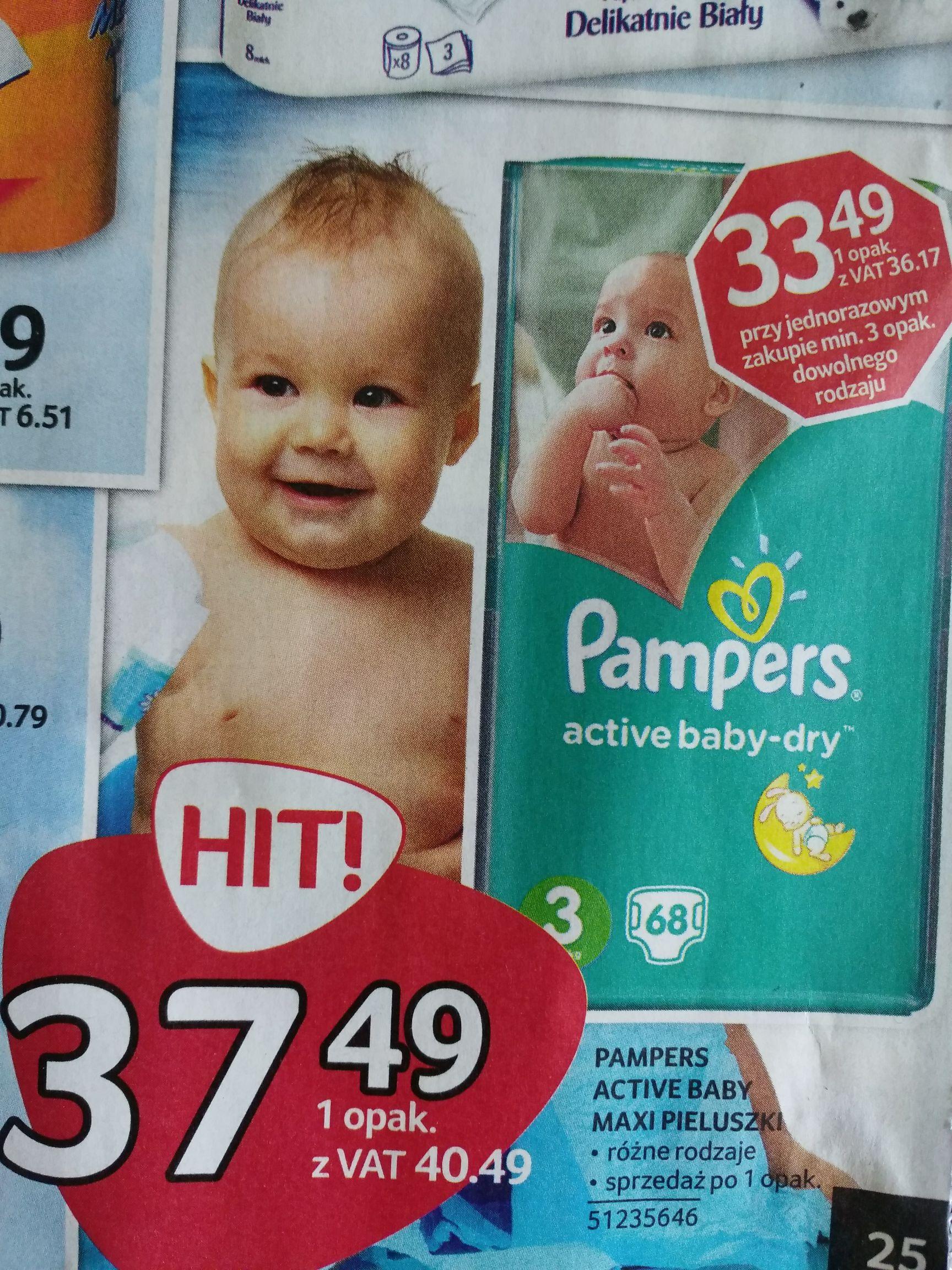 Selgros Pieluszki Pampers Active baby-dry. Chusteczki do -20%