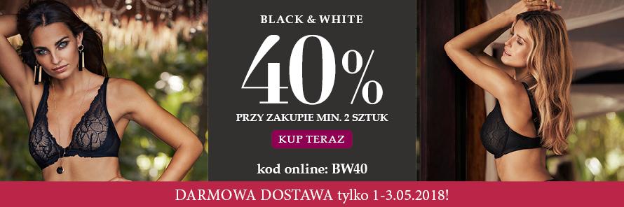 -40% przy zakupie min. 2 produktów z oferty Black & White + darowa dostawa @Change Lingerie