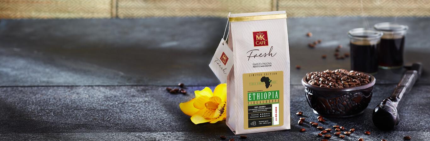 ETHIOPIA YIRGACHEFFE 250G ZIARNO za 1 GR przy zakupie 2 dowolnych kaw na MKFRESH
