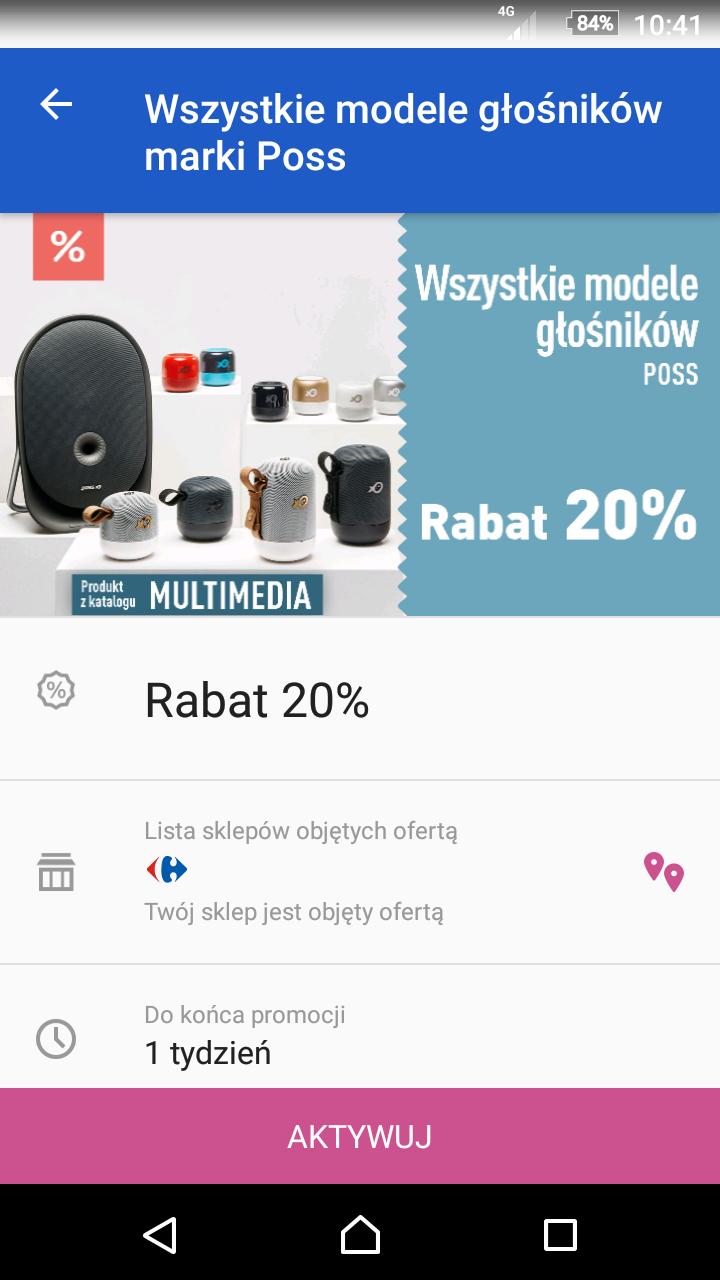 Głośniki Poss -30% Carrefour
