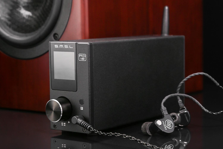 SMSL AD18  - DAC, Bluetooth, USB, NFC, wzmacniacz głośnikowy, prawdziwy kombajn audio