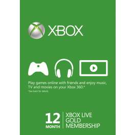 12 miesięczny abonament Xbox Live Gold za 108zł @ Cdkeys