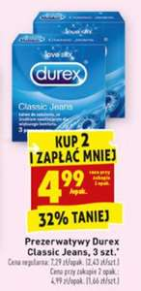 Prezerwatywy Durex 3 szt. @Biedronka