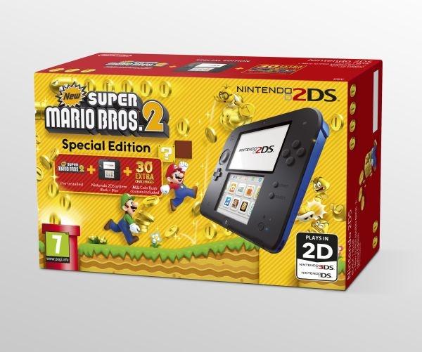 Konsola Nintendo 2DS Black z grą New Super Mario Bros. 2 @ Muve