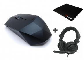 Mysz bezprzewodowa Lenovo + słuchawki Lenovo + podkładka pod mysz SHIRU - komplet za 75zl! @ X-Kom