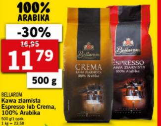 Lidl, Kawa ziarnista Bellarom Crema i Espresso 500 G 100% Arabica od 10.05