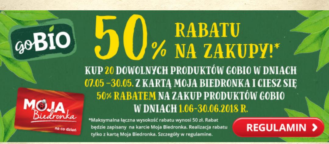50% rabatu na zakupy bio @Biedronka