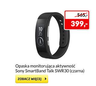 Opaska Sony SmartBand Talk SWR30 za 399 zł i inne @ Euro