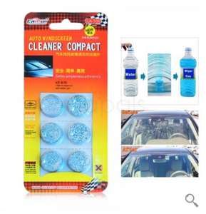 6pcs/Pack Compact Windshield Washer Tablets Glass Washer Solid Wiper Cleaner