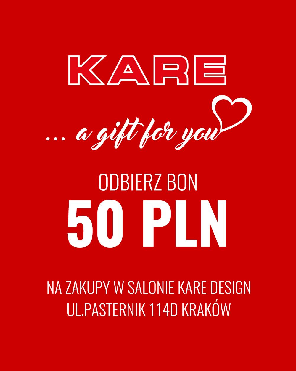 50 zł do salonu KARE w Krakowie (bez MWZ), możliwe darmowe zakupy!