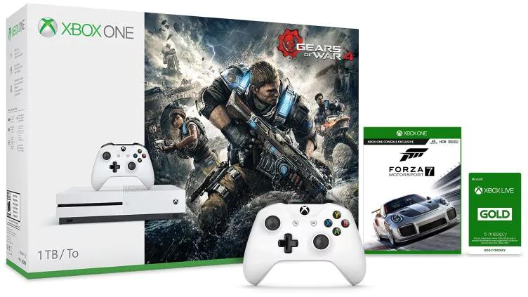 Xbox One S 1TB + Gears of War 4 + Forza Motorsport  7+ dodatkowy kontroler + 6 miesięcy Golda za 1099zł z wysyłką @ Microsoft