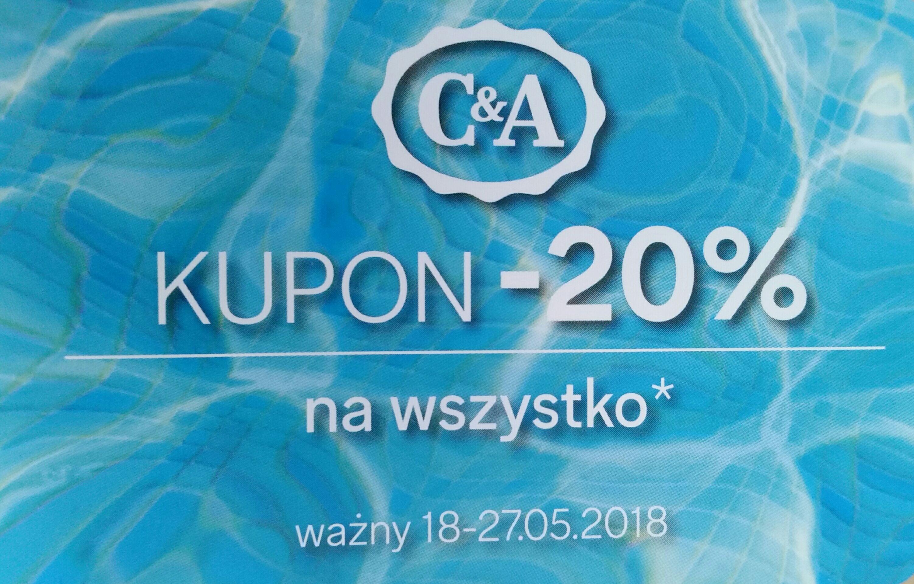 Kod rabatowy -20% C&A online i stacjonarnie