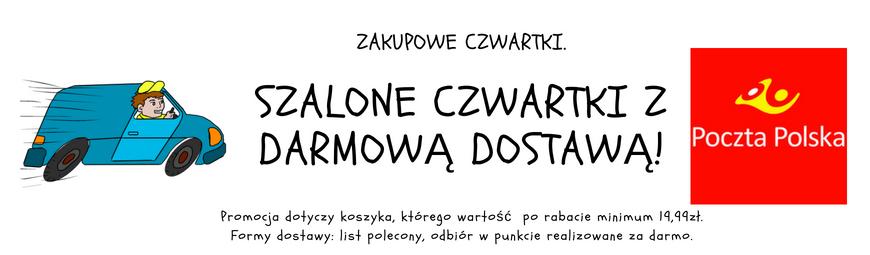 Darmowa dostawa od 19,99 zł w każdy czwartek - Apteka i Drogeria Manada (aptekamanada.pl manada.pl)