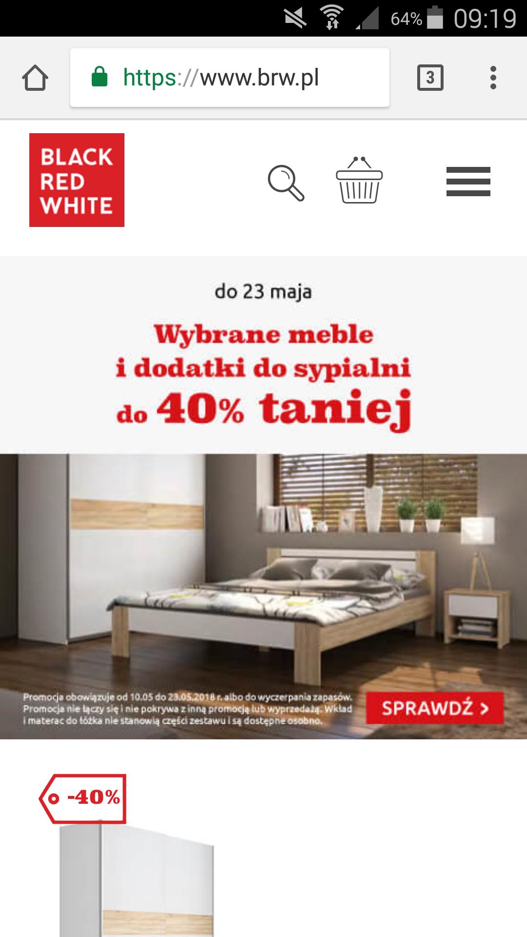 BRW wybrane meble i dodatki do sypialni do 40% taniej