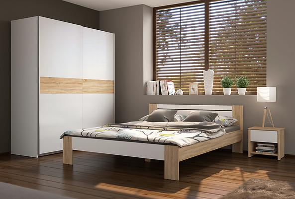 Zestaw szafa, łóżko i szafka nocna za 799zł @ Black Red White
